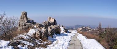 Plateau superiore taishan shandong del supporto immagini stock libere da diritti