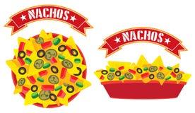 Plateau suprême de nachos de fromage Photos stock