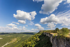 Plateau on top of Chufut-Kale near Bakhchisaray Stock Photo