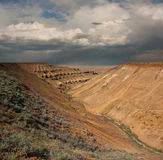 Plateau Ustiurt w Kazachstan Fotografia Royalty Free