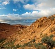 Plateau Ustyurt nel Kazakistan Fotografia Stock