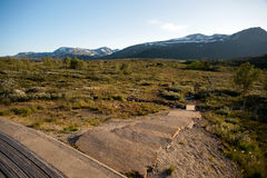 Plateau Valdresflye, Jotunheimen de montagne Images stock