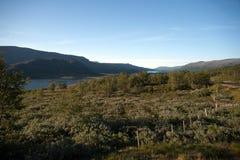 Plateau Valdresflye, Jotunheimen de montagne Photo libre de droits