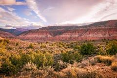 Plateau variopinto durante l'alba Fotografia Stock