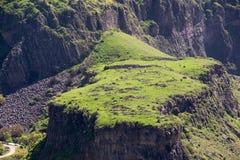 Plateau verde in Garni, Armenia Fotografia Stock Libera da Diritti