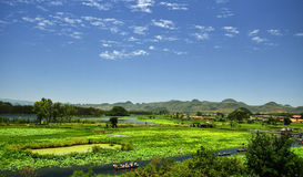 Plateau Water under the blue sky. Eastphoto, tukuchina,  Plateau Water under the blue sky Royalty Free Stock Photography