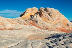 White Pocket, Vermilion Cliffs National Monument, Arizona. Plateau from white and red sandstone, vermilion cliffs. The area of White Pocket on the Paria Plateau Stock Photography