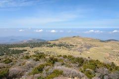 Plateau widok od Witse-Oreum w Yeongsil Fotografia Royalty Free