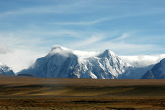 The Plateau wilderness and jokuls. The tibet plateau wilderness and snow mountains,xigaze,Tibet,China Stock Images