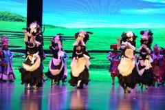"Plateau Yak dance-Large scale scenarios show"" The road legend"" Stock Photos"