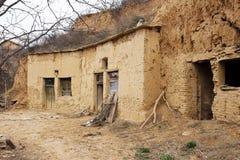 Plateau Yaodong de loess de Shanxi photographie stock libre de droits