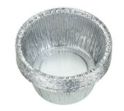 Plateaux de papier aluminium Image stock