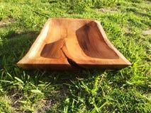 Plateaux en bois de portion Image libre de droits