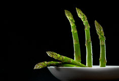 Plated asparagus Stock Photo