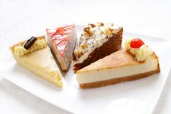 Plated cake selection Royalty Free Stock Image