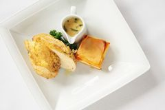 Plated chicken meal Royalty Free Stock Photo