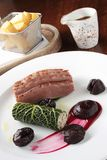 Plated duck breast meal Royalty Free Stock Photography
