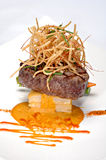 Plated Filet Mignon royalty free stock photography