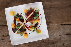 Plated pork main meal Royalty Free Stock Photography