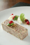 Plated pork terrine starter Stock Photography