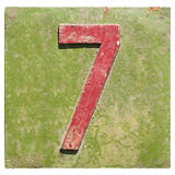Platee con un número 7 Imagen de archivo libre de regalías