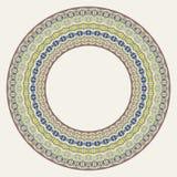 Platee el ornamento redondo de encaje, fondo, invitación, tarjeta de felicitación ilustración del vector
