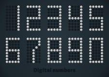 Platee los números punteados, vector la imagen digital para el monitor, exhibición, web, móvil Imagenes de archivo