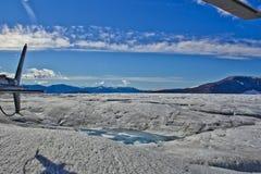Plateforme d'atterrissage de glacier de Mendenhall Image stock