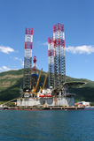 Plateforme pétrolière. image libre de droits