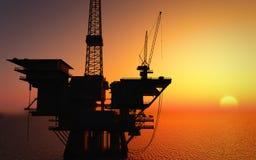 Plateforme pétrolière illustration libre de droits