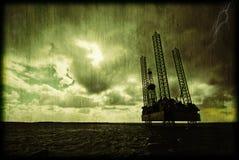 Plateforme pétrolière photos libres de droits