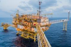 Plateforme pétrolière images libres de droits