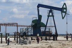 Plateforme pétrolière Photographie stock libre de droits