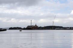 Plateforme pétrolière en Mer du Nord photographie stock