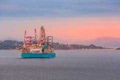 Plateforme pétrolière en Norvège, Stavanger photo stock