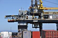 Plateforme pétrolière en panne image libre de droits