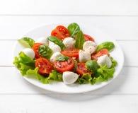Plateful της ελληνικής σαλάτας με φέτα Στοκ Εικόνα