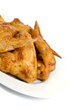 Plateful of Chicken Wings Royalty Free Stock Image