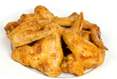 Plateful of Chicken Wings Stock Photography