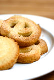 A plateful of delicious warm butter cookies Royalty Free Stock Images