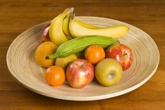 Plateful of Fresh Fruits Royalty Free Stock Images