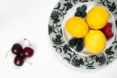 Plateful Of Fruit Royalty Free Stock Photography