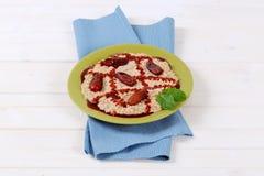 Platel of oatmeal porridge Stock Image