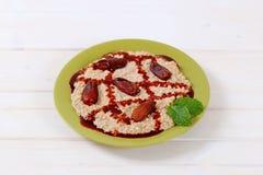 Platel of oatmeal porridge Royalty Free Stock Image