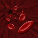 Platelet cells flowing through bloodstream Stock Photo
