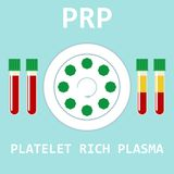 Platelet rich plasma. PRP method. Vector. Platelet rich plasma. Modern method of treatment of PRP. Test tube with blood and centrifuge. Vector illustration royalty free illustration