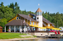 Plateliai Yacht Club, Plateliai, Lithuania Royalty Free Stock Images