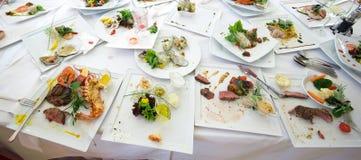 Platen na maaltijd Stock Foto's