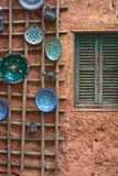 Platen op een Muur Stock Fotografie