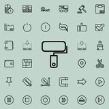 Platen for painting outline icon. Detailed set of minimalistic line icons. Premium graphic design. One of the collection icons for. Websites, web design, mobile Royalty Free Stock Photography